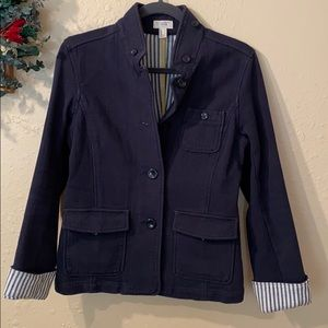 LANDS END SIZE SMALL NAVY CANVAS JACKET